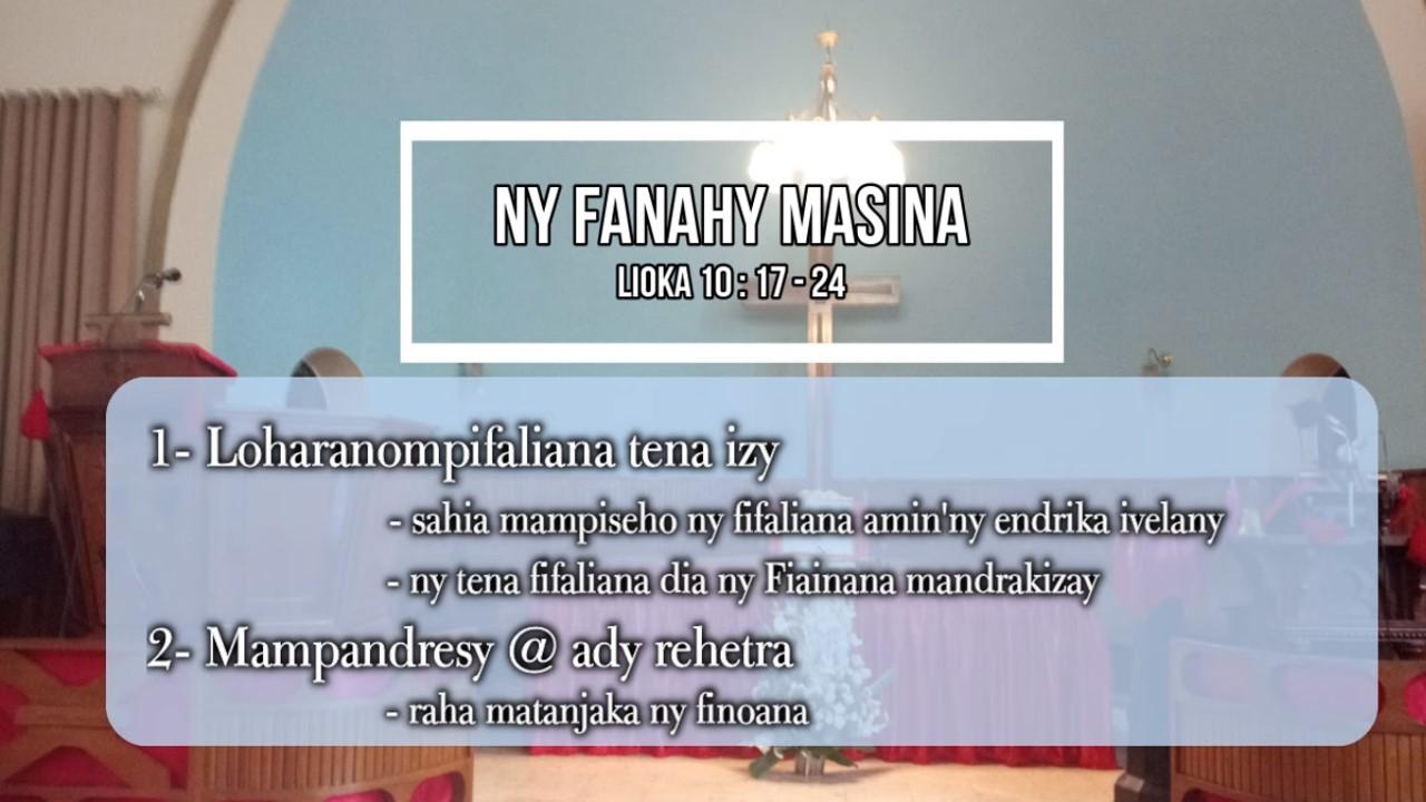 NY FANAHY MASINA