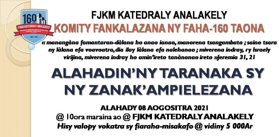 FANASANA ALAHADIN'NY TARANAKA SY ZANAKA AM-PIELEZANA